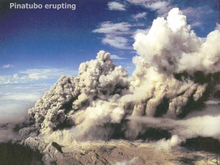 Pinatubo erupting