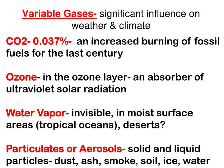 Variable Gases-