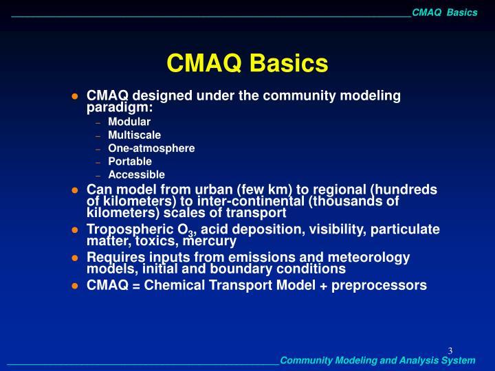 CMAQ Basics