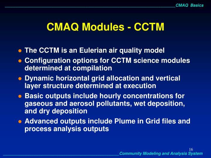 CMAQ Modules - CCTM