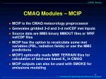 cmaq modules mcip