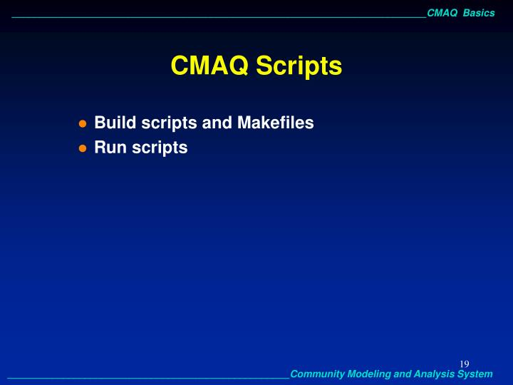 CMAQ Scripts