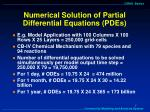 numerical solution of partial differential equations pdes