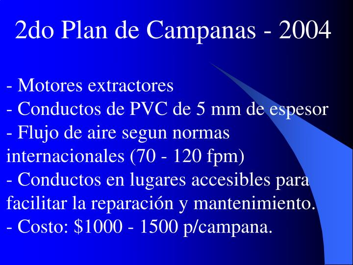 2do Plan de Campanas - 2004