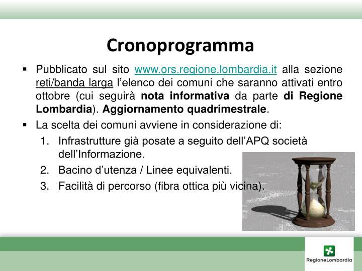Cronoprogramma