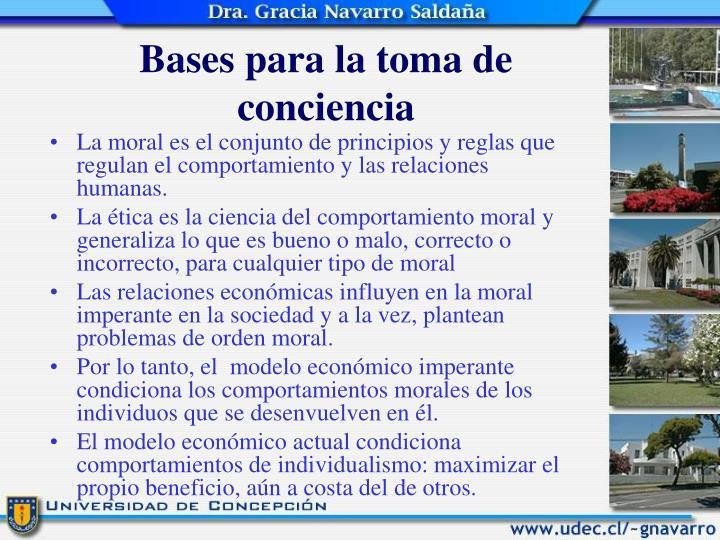 Bases para la toma de conciencia