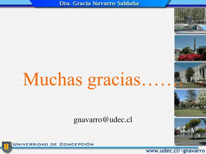 Muchas gracias…….