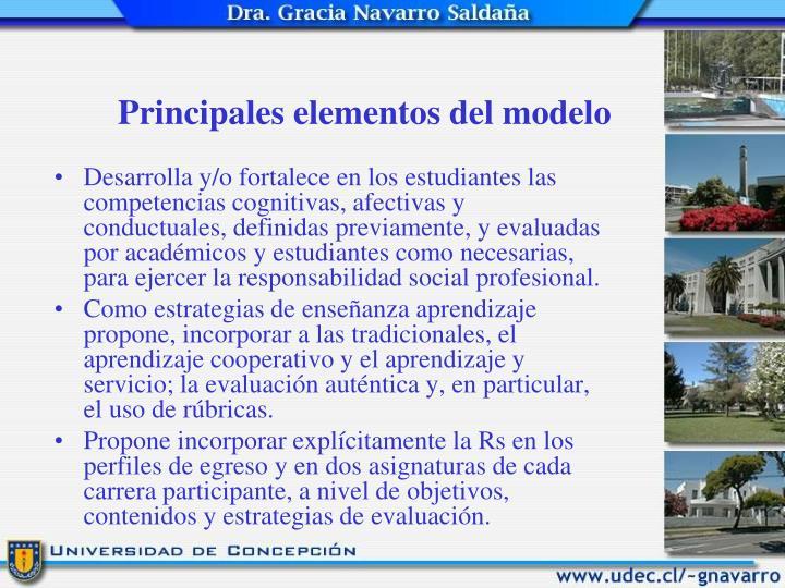 Principales elementos del modelo