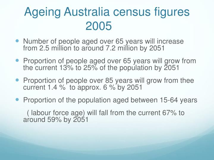 Ageing Australia census figures 2005
