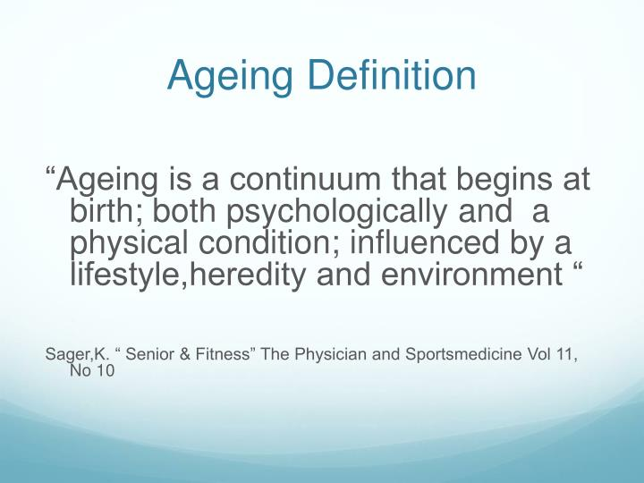 Ageing Definition