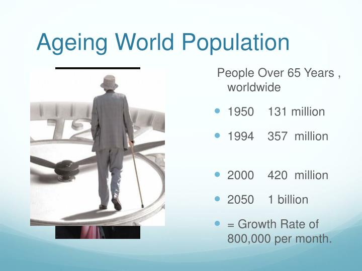 Ageing world population