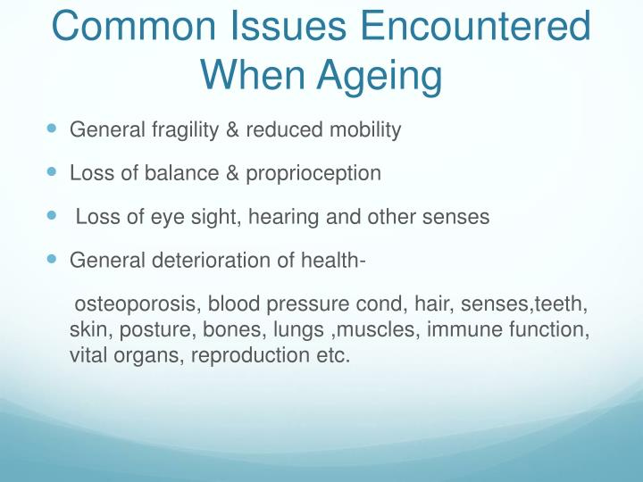 Common Issues Encountered When Ageing