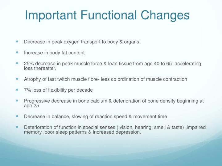 Important Functional Changes