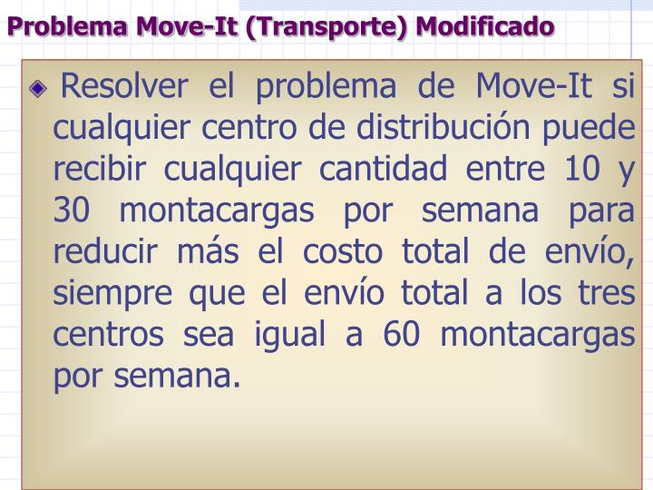 Problema Move-It (Transporte) Modificado