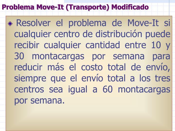 Problema Move-It (Transporte) Modificado