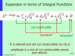 expansion in terms of integral functions