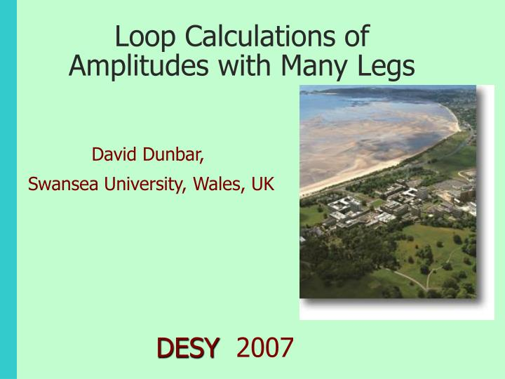 Loop calculations of amplitudes with many legs