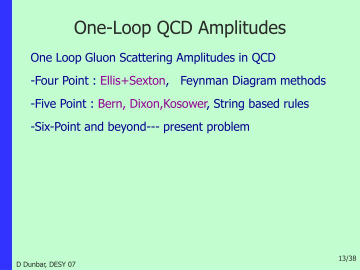 One-Loop QCD Amplitudes