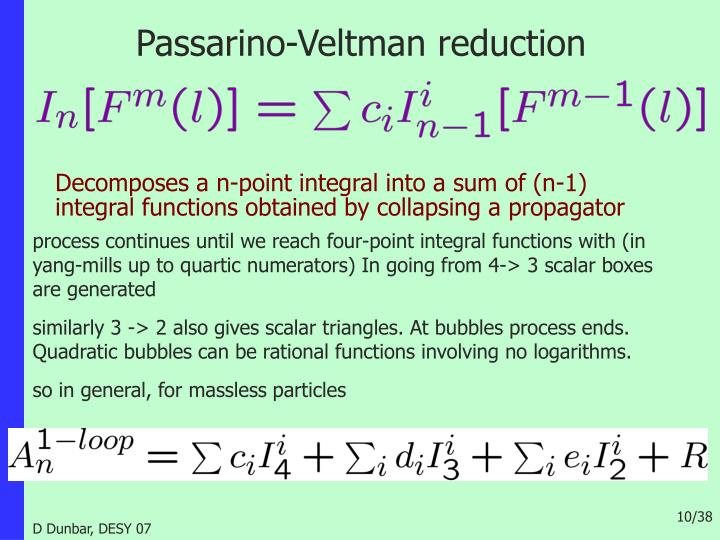 Passarino-Veltman reduction