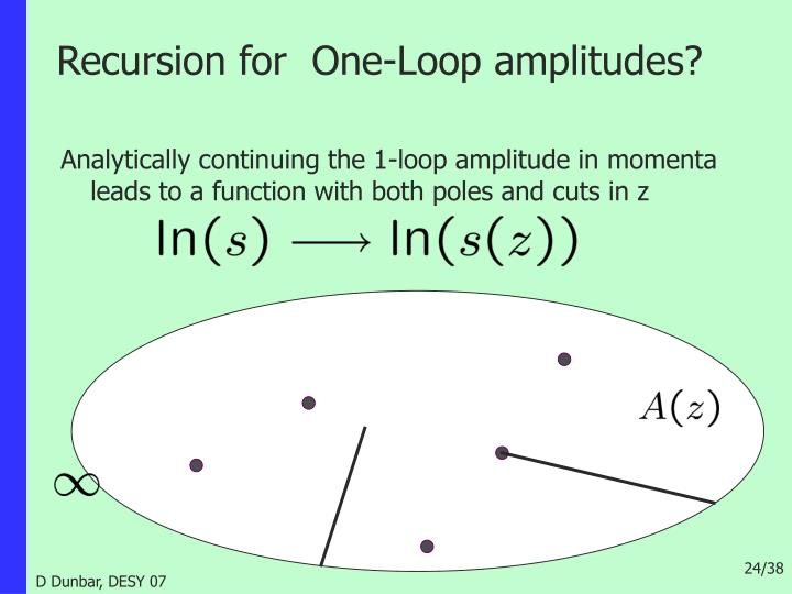 Recursion for  One-Loop amplitudes?
