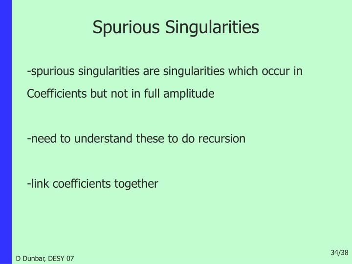 Spurious Singularities