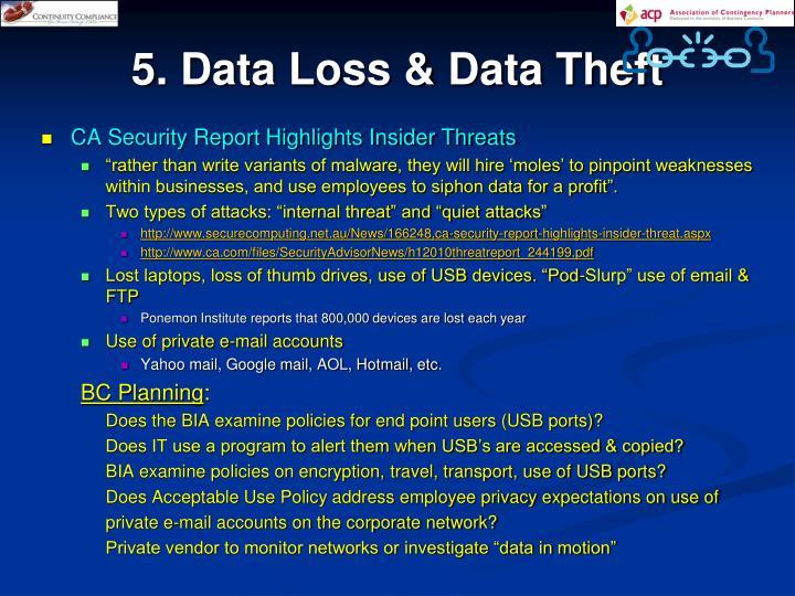 5. Data Loss & Data Theft