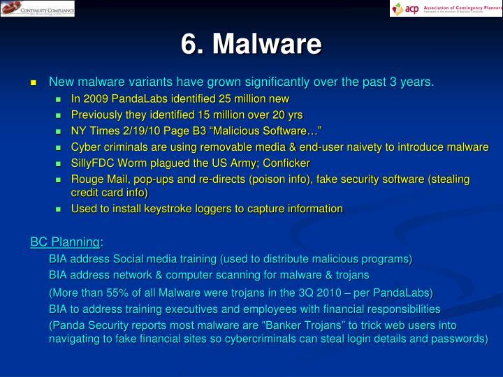 6. Malware