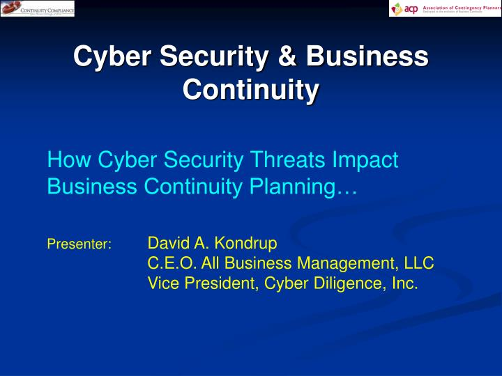 Cyber Security & Business Continuity