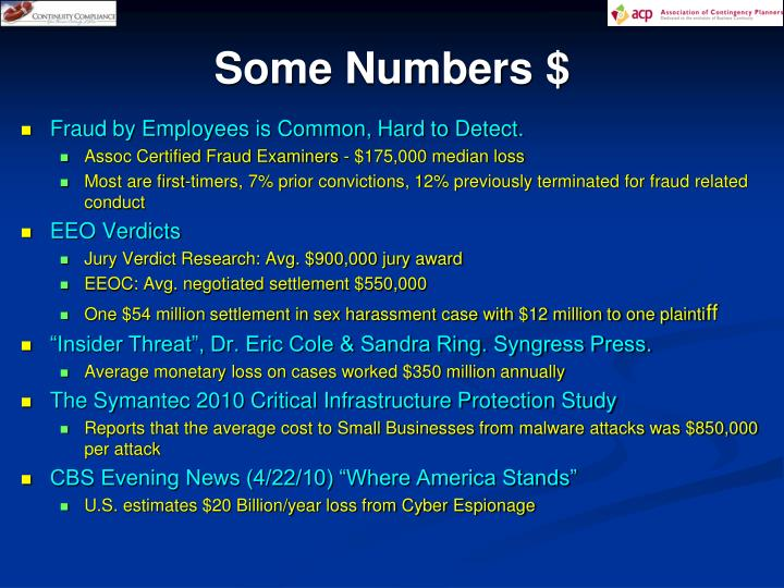 Some Numbers $