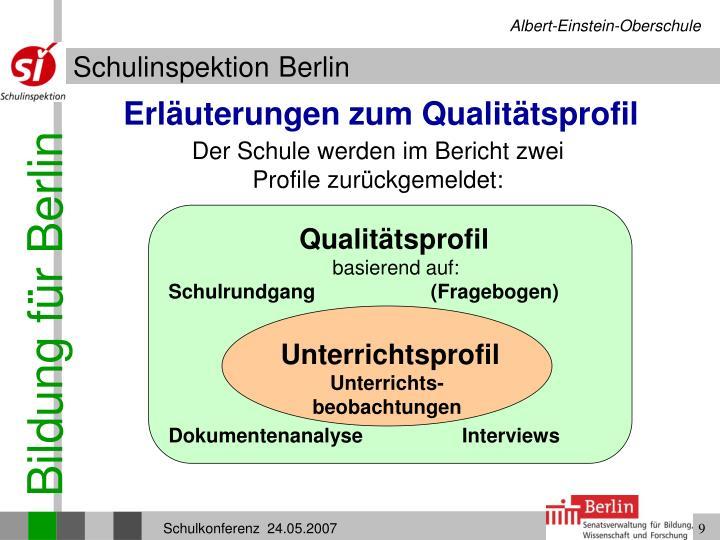 Erläuterungen zum Qualitätsprofil