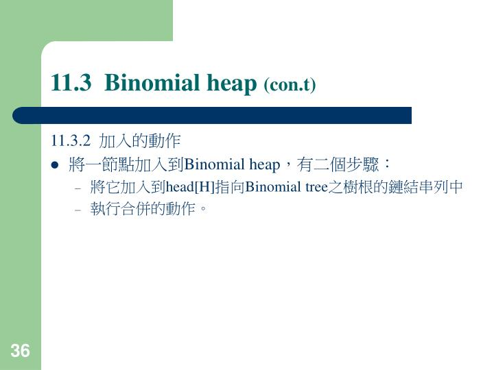 11.3  Binomial heap