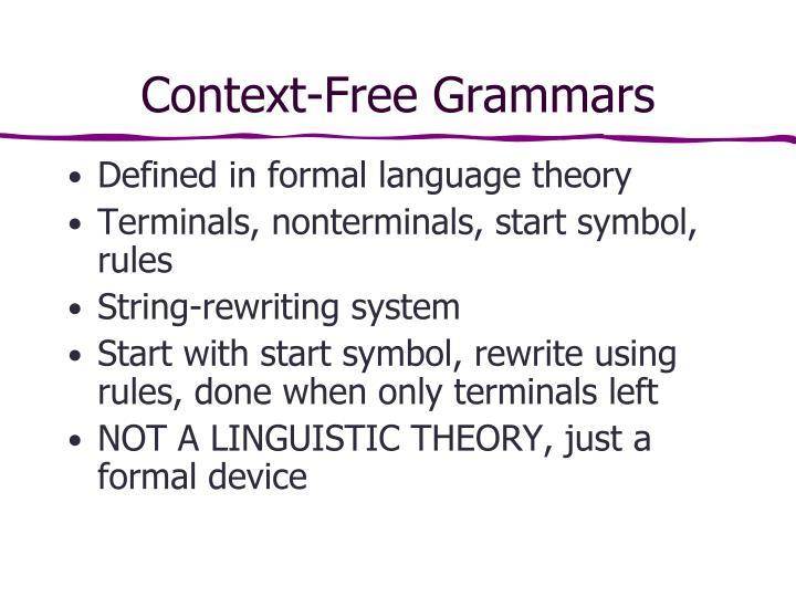 Context-Free Grammars