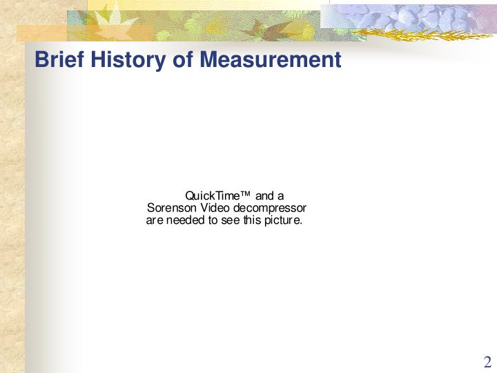 Brief history of measurement