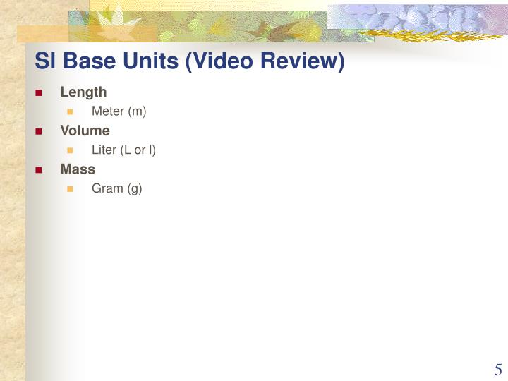 SI Base Units (Video Review)