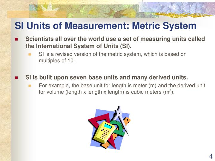 SI Units of Measurement: Metric System