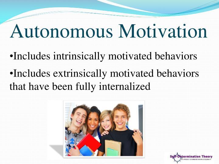 Autonomous Motivation
