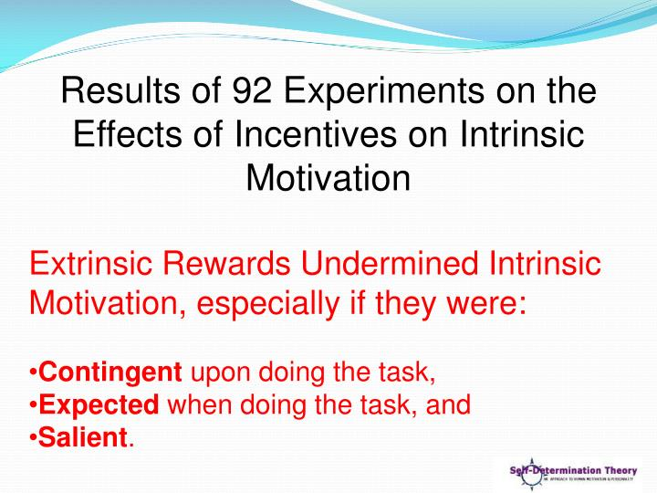 Results of 92 Experiments on the Effects of Incentives on Intrinsic Motivation