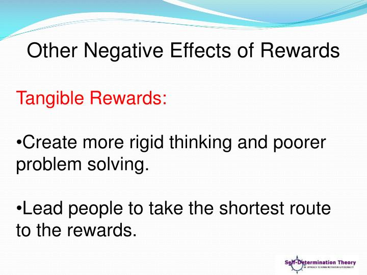 Other Negative Effects of Rewards