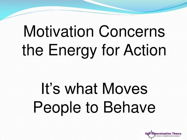 Motivation Concerns