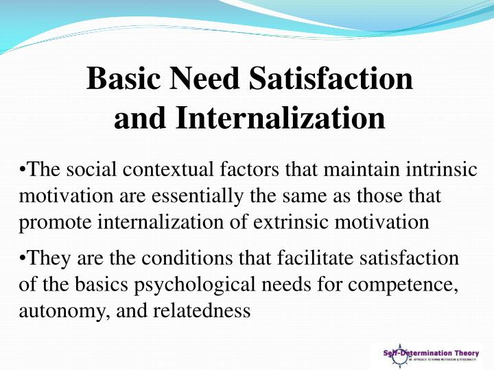 Basic Need Satisfaction