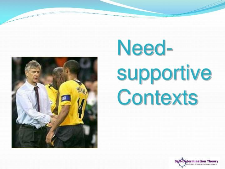 Need-supportive Contexts