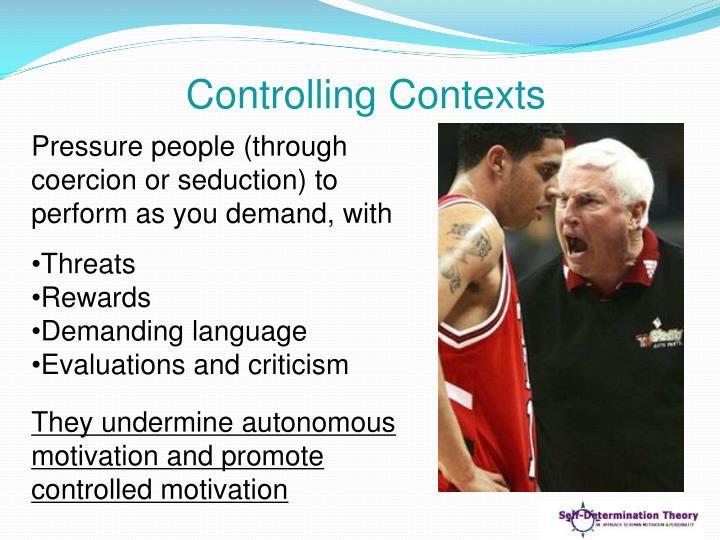 Controlling Contexts
