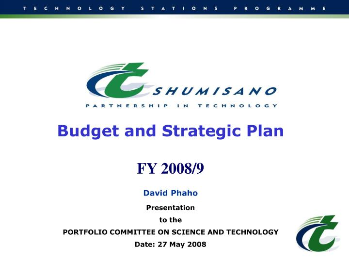 Budget and Strategic Plan