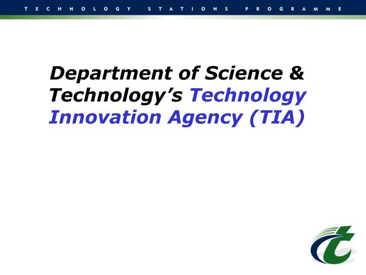 Department of Science & Technology's