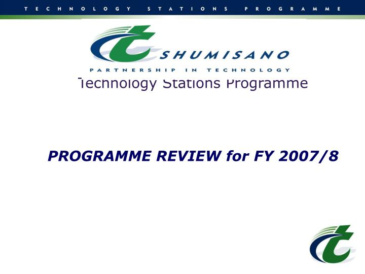 Technology Stations Programme
