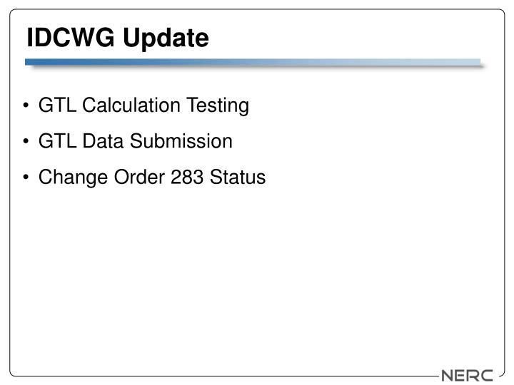IDCWG Update