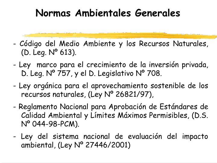 Normas Ambientales Generales