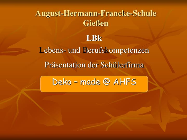 August-Hermann-Francke-Schule