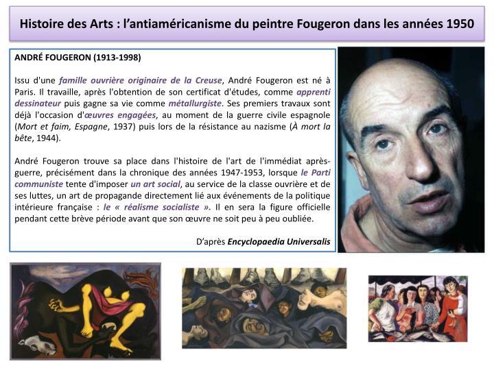 Histoire des Arts : l'antiaméricanisme du peintre