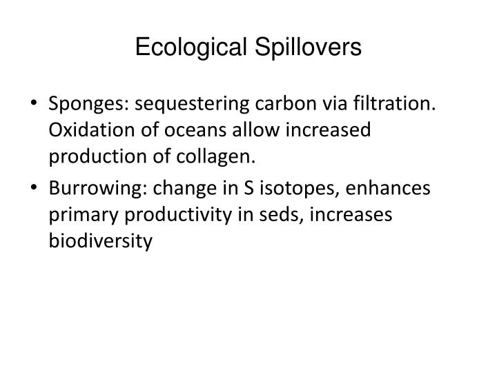 Ecological Spillovers